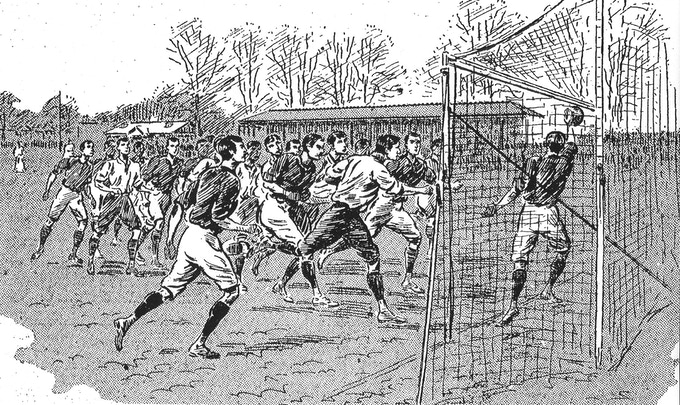 Fred Spiksley was the first player to score three goals for England against Scotland at Richmond Park on 1 April 1893