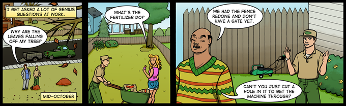Strip #107: Doesn't Fall Far From the Stupid Tree