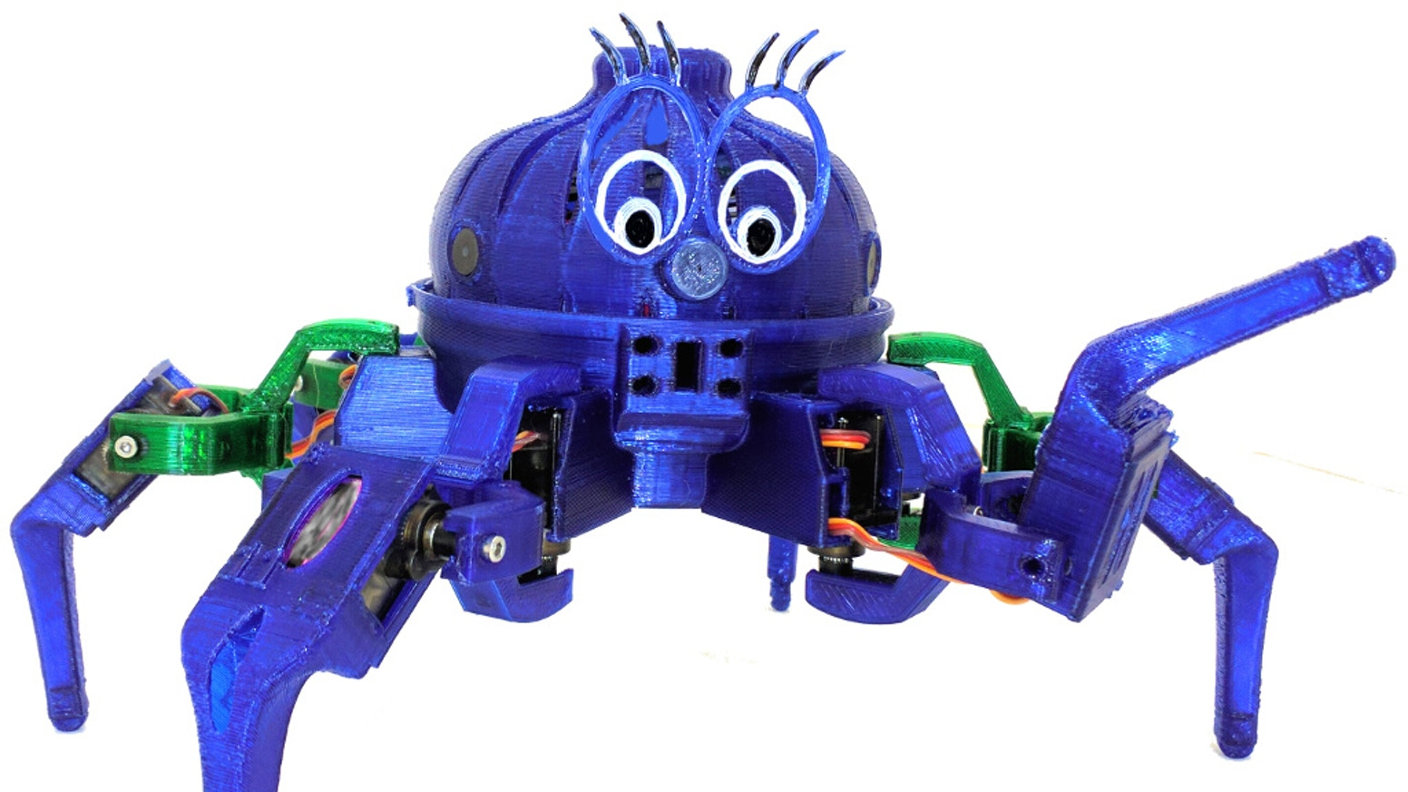 A low cost, open source, wireless, 3D printed, Scratch programmable Hexapod Robot designed for games, education, and FUN!