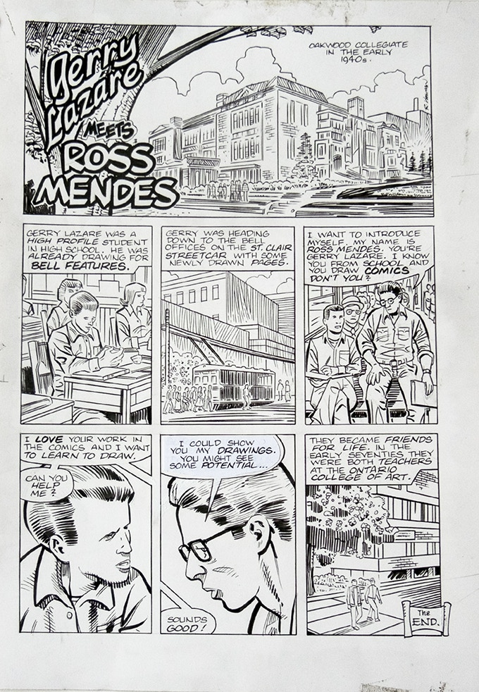 Ron Kasman art: Gerry Lazare meets Ross Mendes