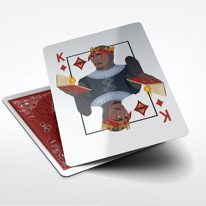 Tupac as King of Diamonds