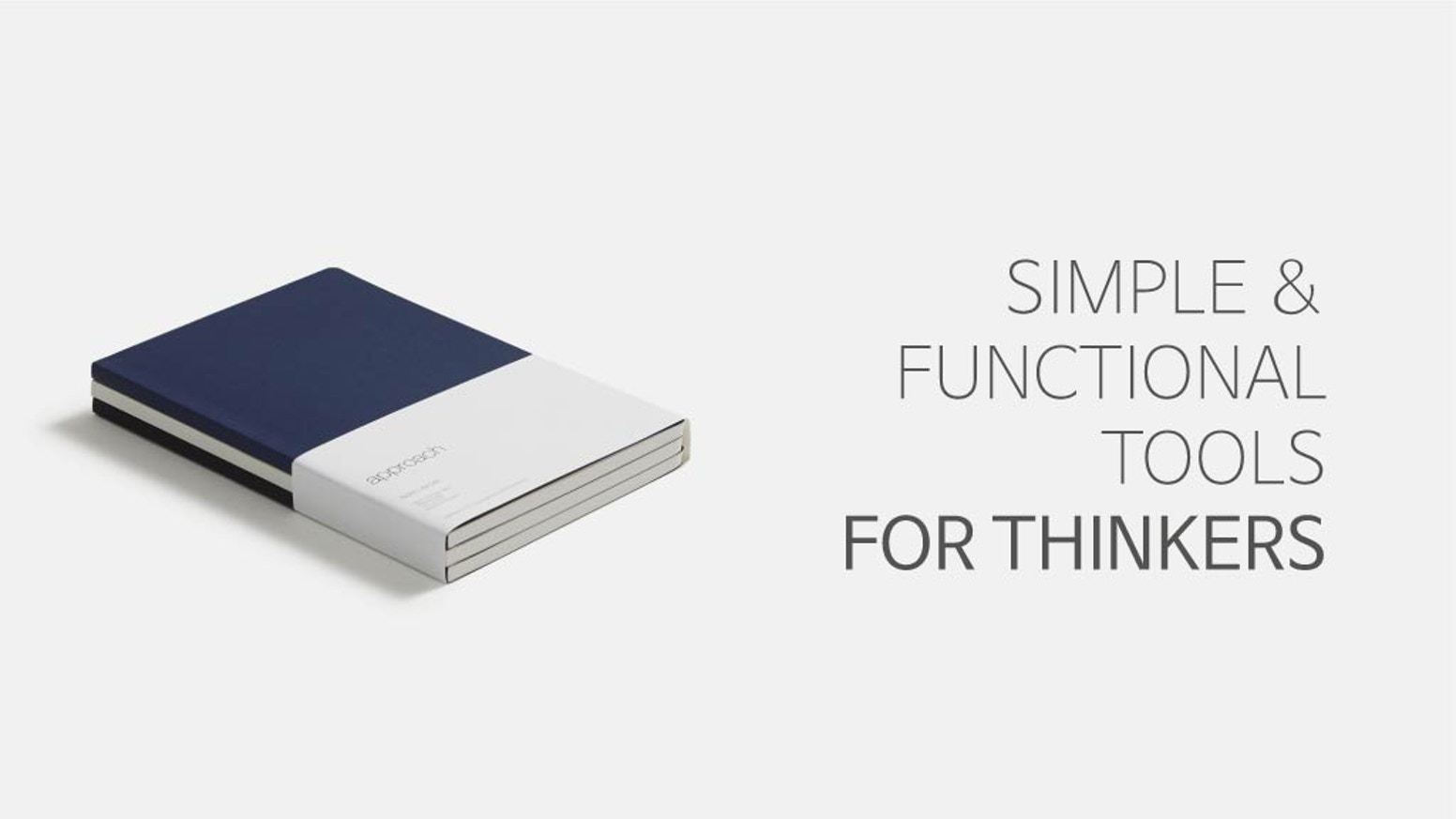 Functional notebooks and planners with innovative add-ons designed to optimize the user experience of 'Thinkers'