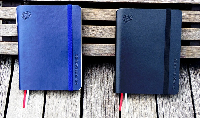 Your choice: a Classic Black or Limited Blue soft leather cover.