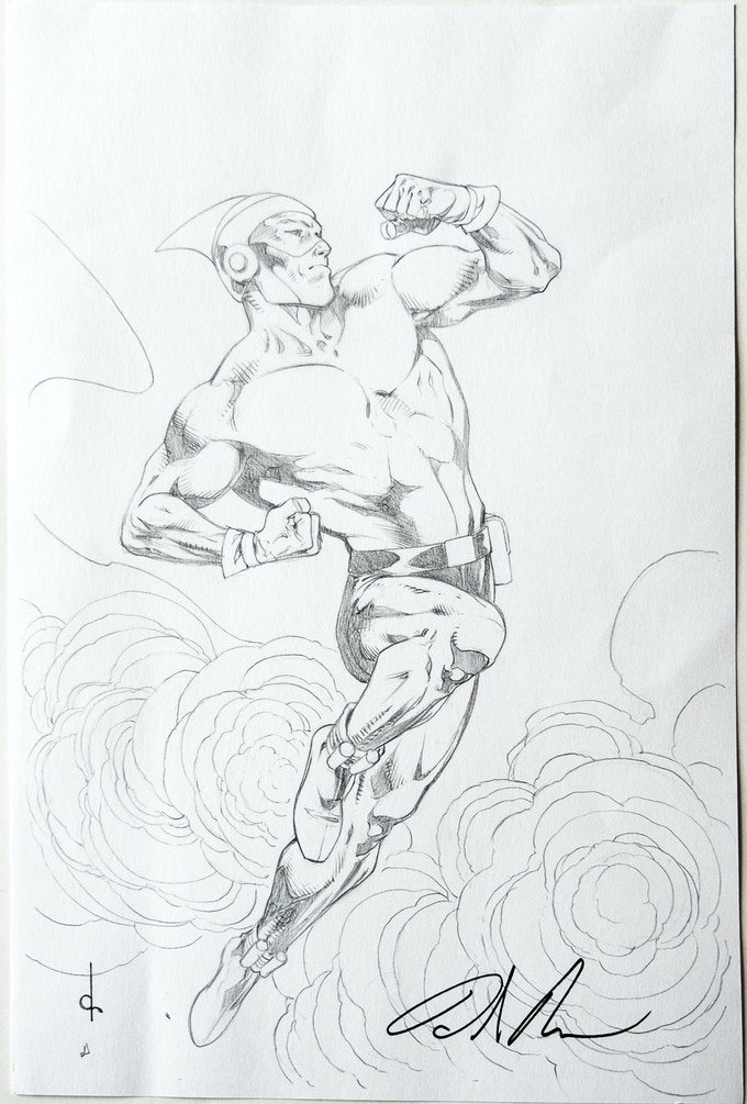 Dave Ross' pencil take on Thunderfist.