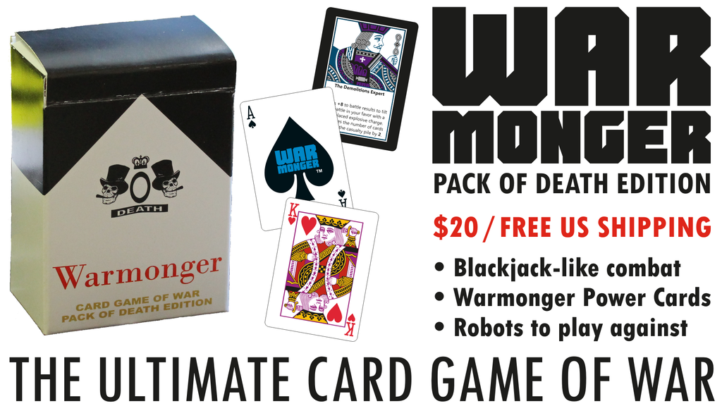 Warmonger: The Ultimate Card Game of War for 1-4 Players project video thumbnail