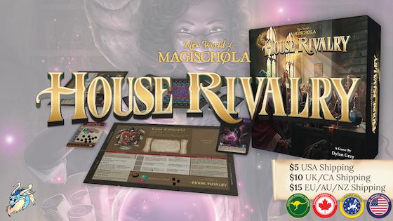 New World Magischola House Rivalry wizard school board game
