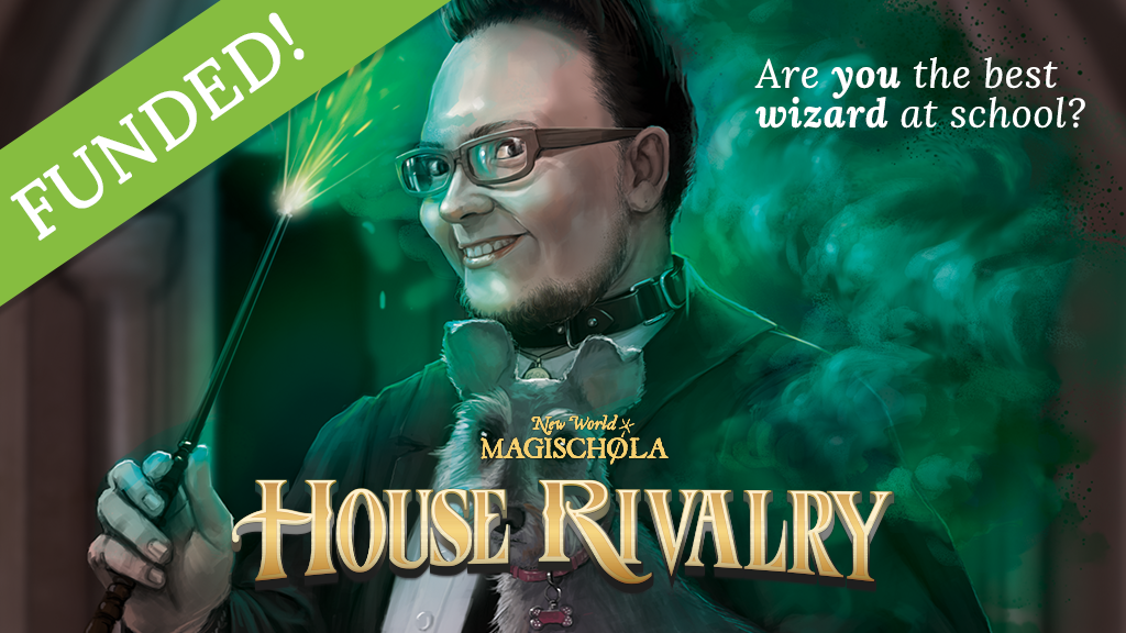 New World Magischola House Rivalry wizard school board game project video thumbnail