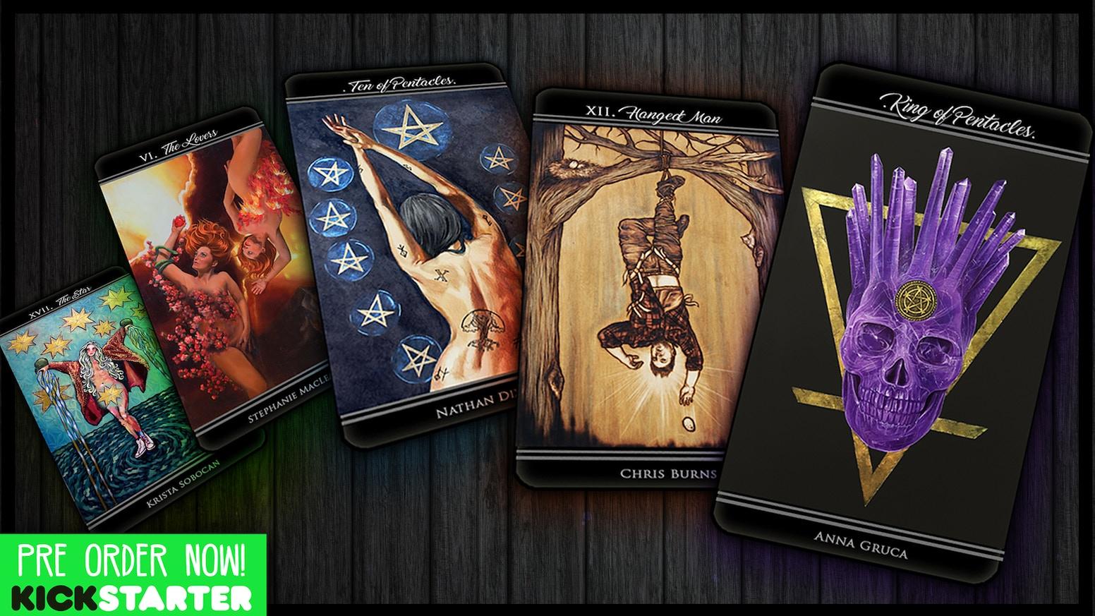 An inspirational 80-card/80-artist tarot deck - created for all 'Thriving Artists' & tarot lovers!