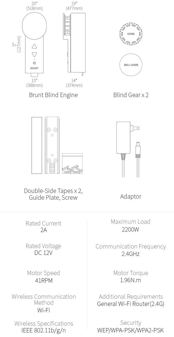Blind Engine : Make a smart motorized blind by BRUNT