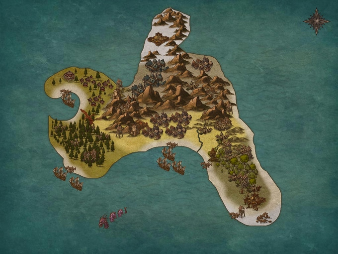 Provisional world map