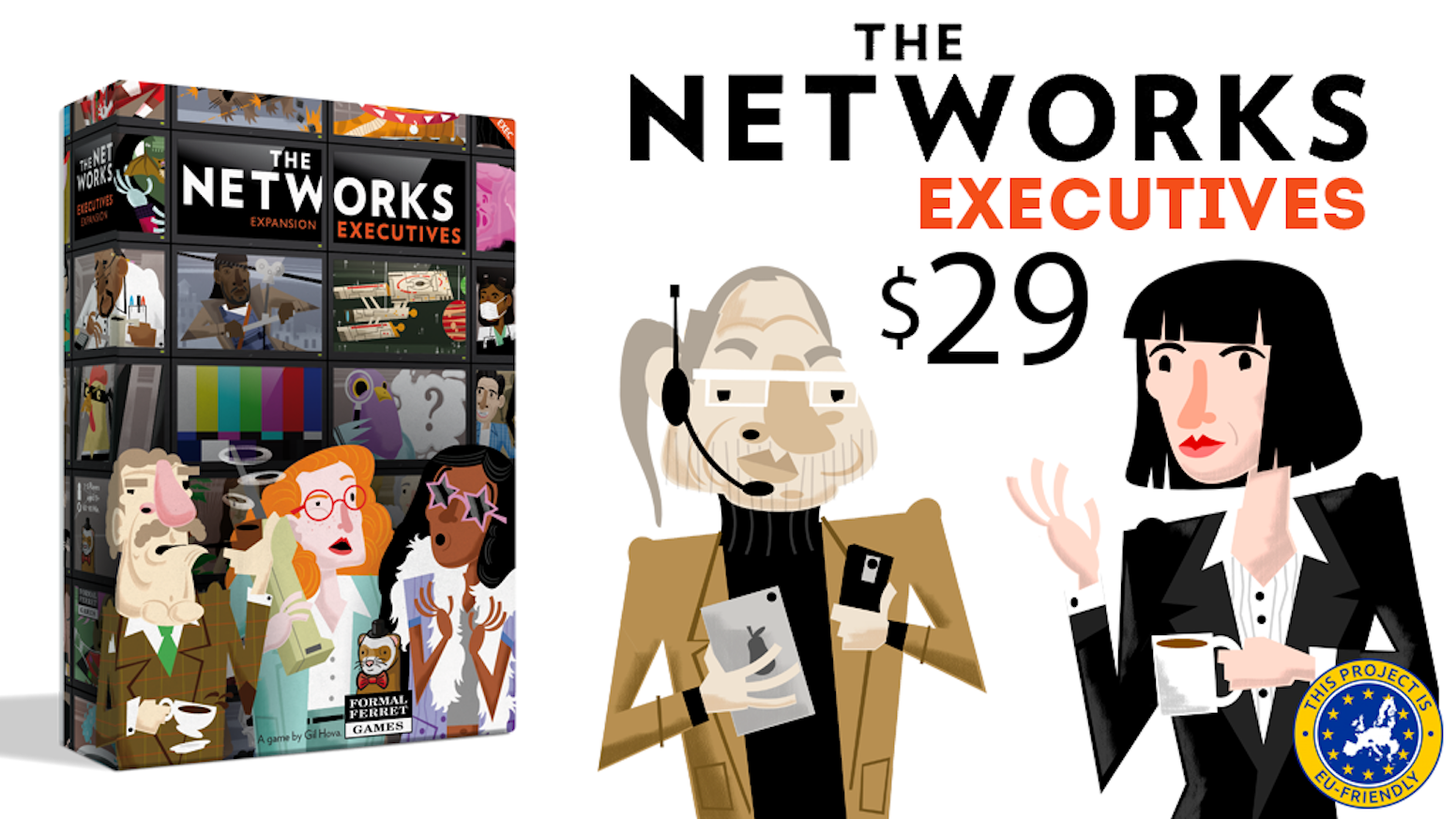 A big expansion to The Networks, the hit board game where you run your own TV network!
