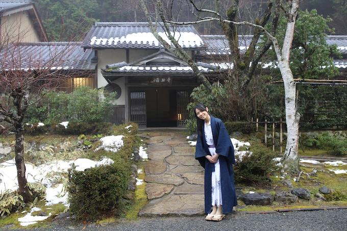Me at Miyamasou, a traditional Japanese inn (Ryokan) in Kyoto JAPAN