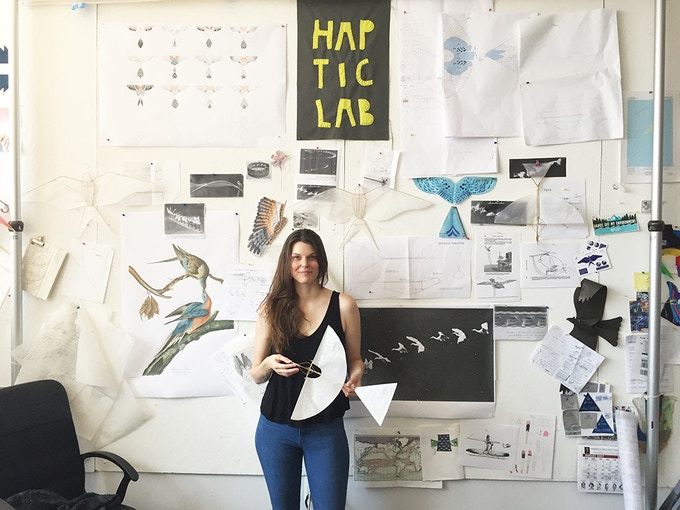 Emily Fischer in the Haptic Lab studio