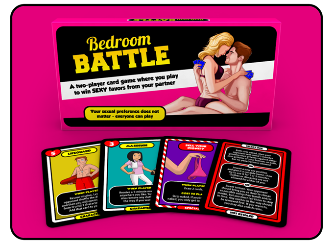 We're doing a reprint of our game Bedroom Battle, with a better box and higher quality rules in color.