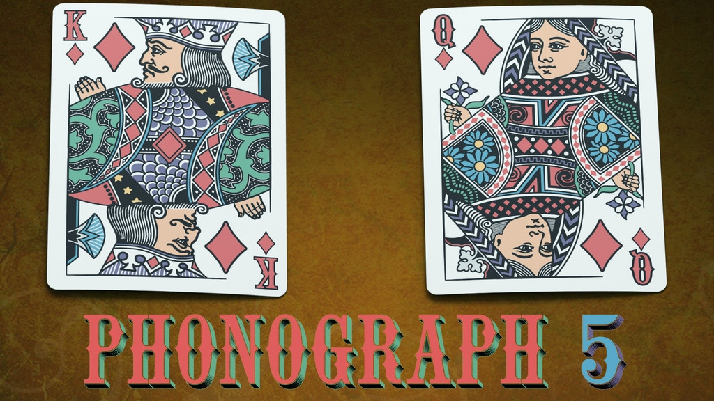 Project image for Phonograph 5 Playing Cards