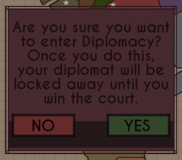 Warning popup for major decisions