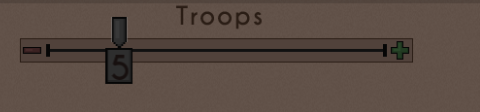 Select the number of troops to send (WIP)