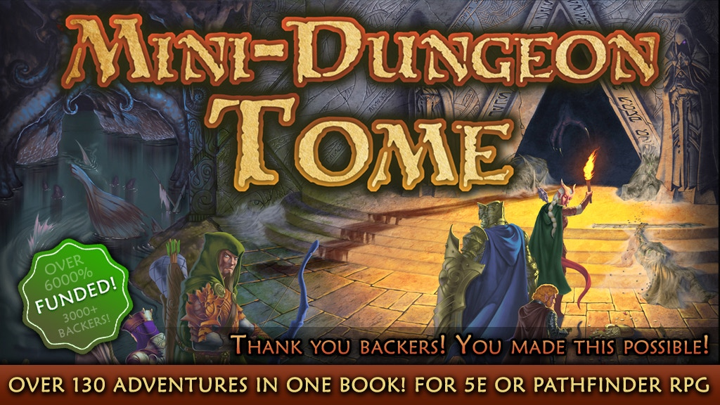 Mini-Dungeon Tome for 5th Edition or Pathfinder RPG project video thumbnail