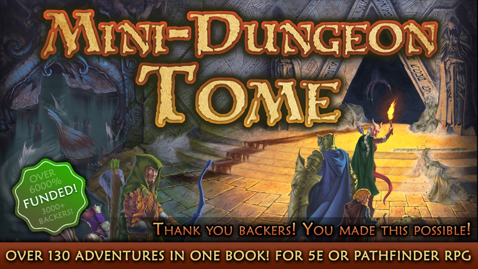 Mini-Dungeon Tome for 5th Edition or Pathfinder RPG by AAW