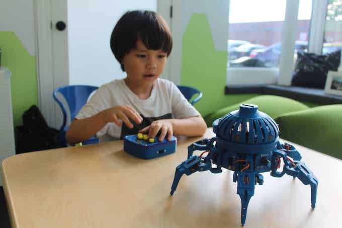 Even small children pick up the gamepad and can be controlling the Vorpal Combat Hexapod immediately.