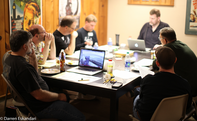 The 2016 Gamers in Andrew Miglore's basement of wonders! Photo courtesy of Darren Eskandari.