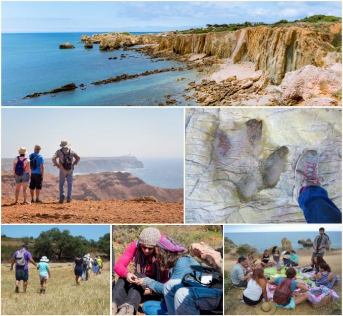 Some images showcasing the diversity of geological landscapes of south Portugal (image by GWT)