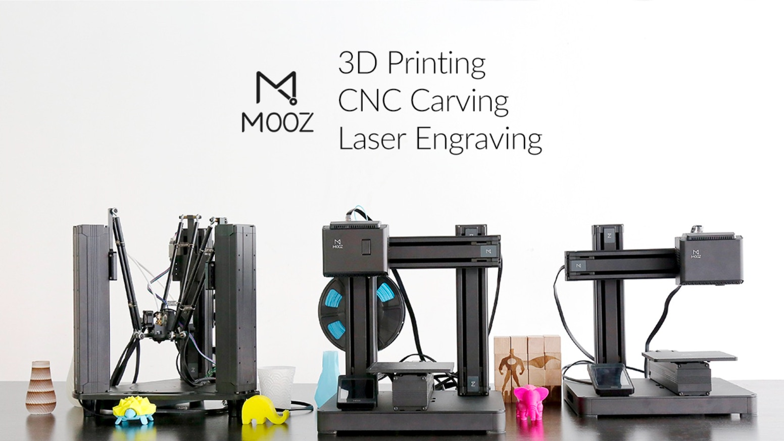 Offers CNC Carving, Laser Engraving & 3D Printing In One Design. The new standard in accuracy and precision.