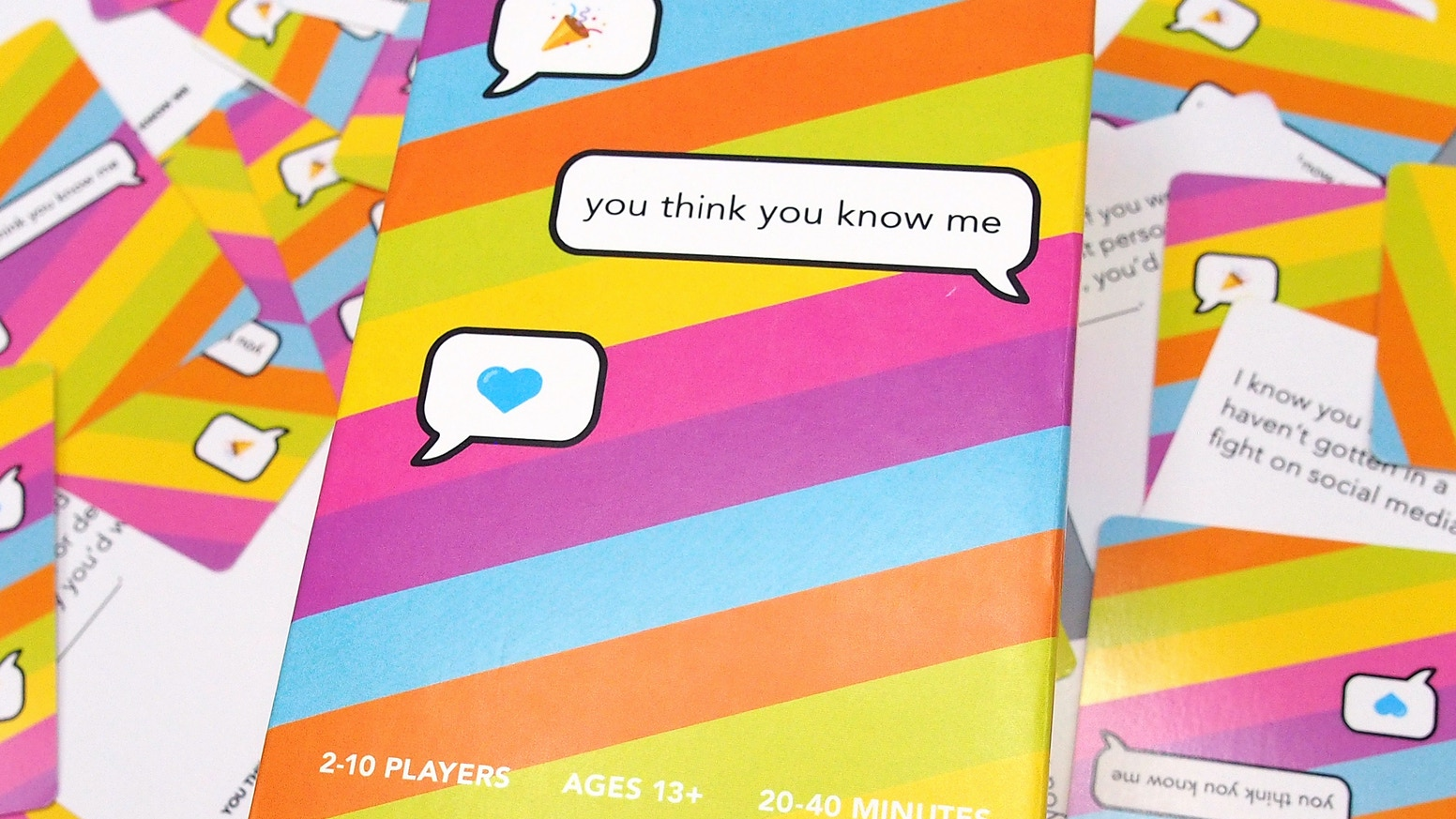 How well do you know your friends, family, coworkers, or partners? A colorful new card game to deepen the relationships around us.