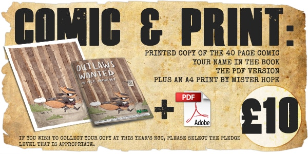Printed Comic PLUS A4 Print - £10