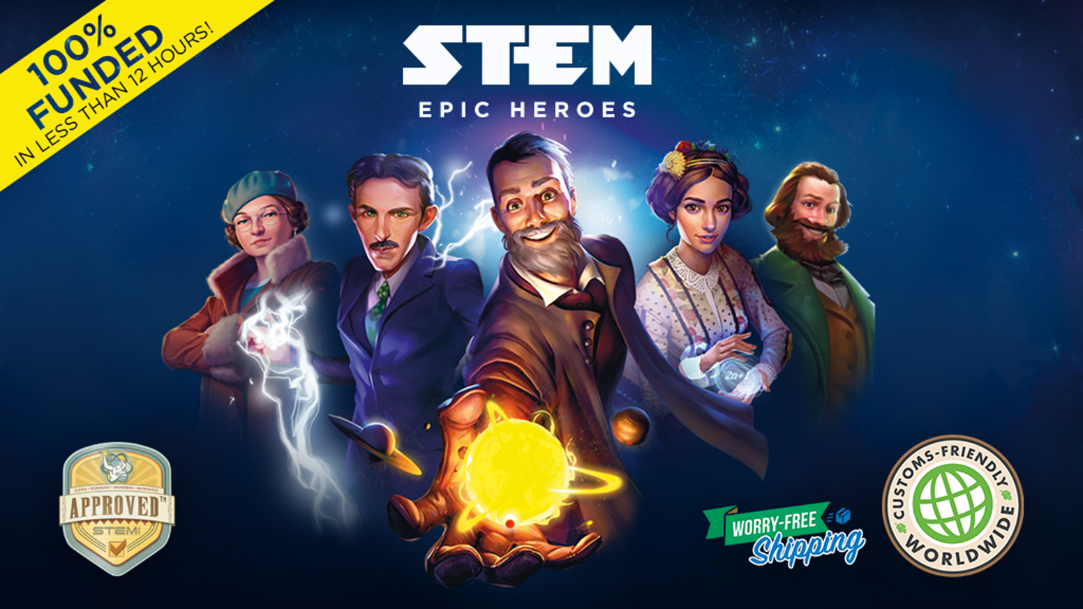 A fun, simple, fast-paced card game where you team up with the greatest minds in history in an epic race to make discoveries.