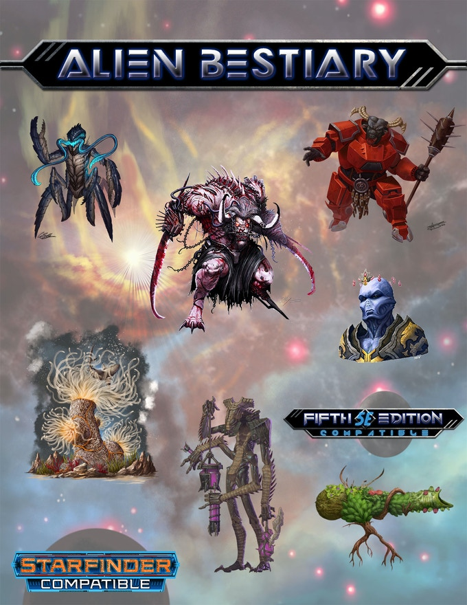 Alien Bestiary for 5E, Starfinder, and Pathfinder RPG by
