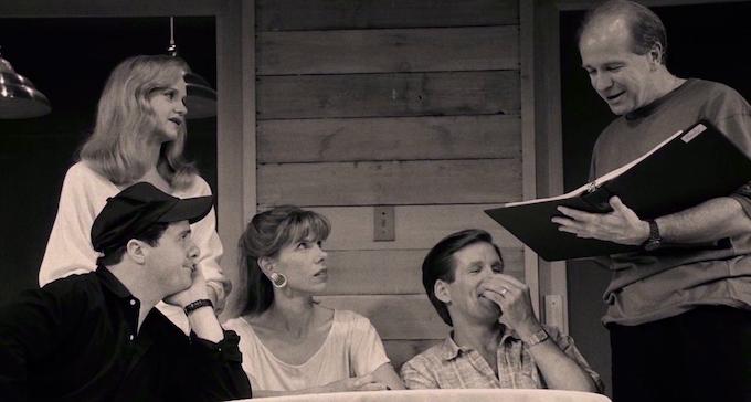 "Swoosie Kurtz, Nathan Lane, Christine Baranski, Anthony Heald, with Terrence, ""Lips Together, Teeth Apart,"" 1991"