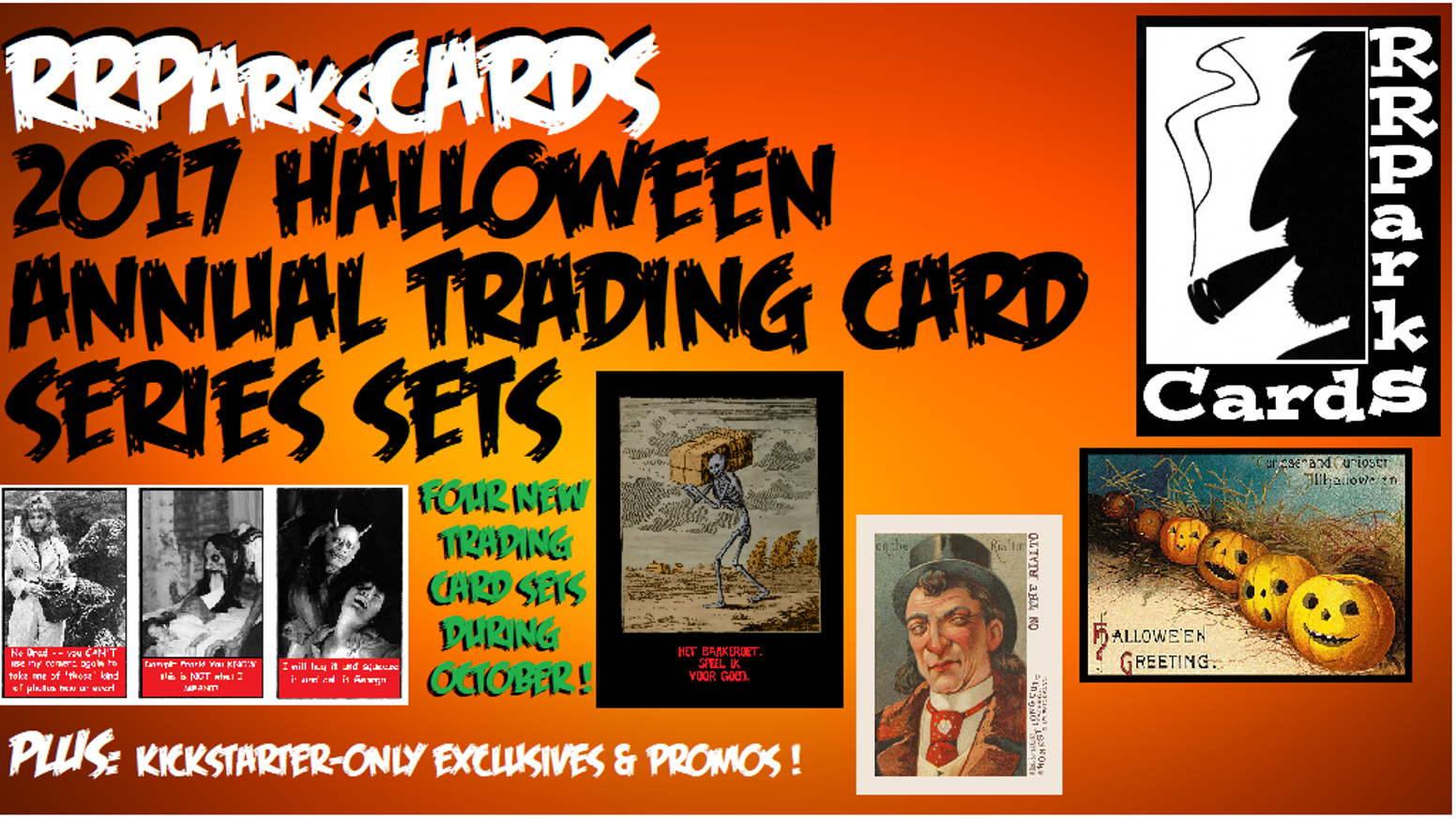 2017 halloween trading cards from rrparkscards