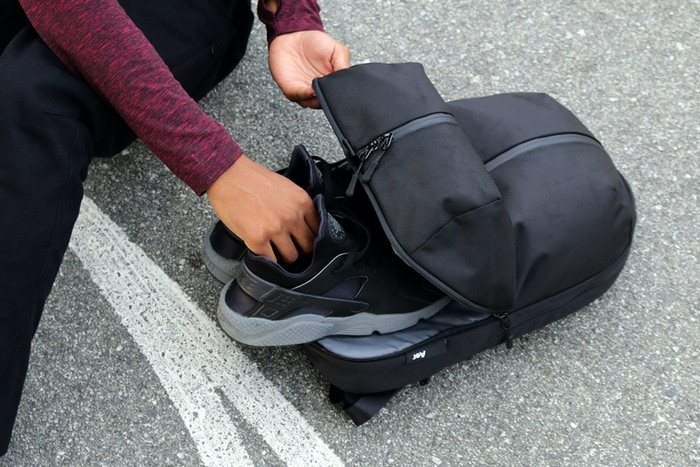 Carry your gym/work essentials in a stylish, versatile backpack. Take it to the office, gym and everywhere in between.