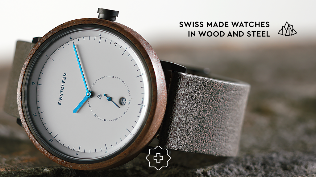 EINSTOFFEN - Swiss made watches in wood and steel project video thumbnail