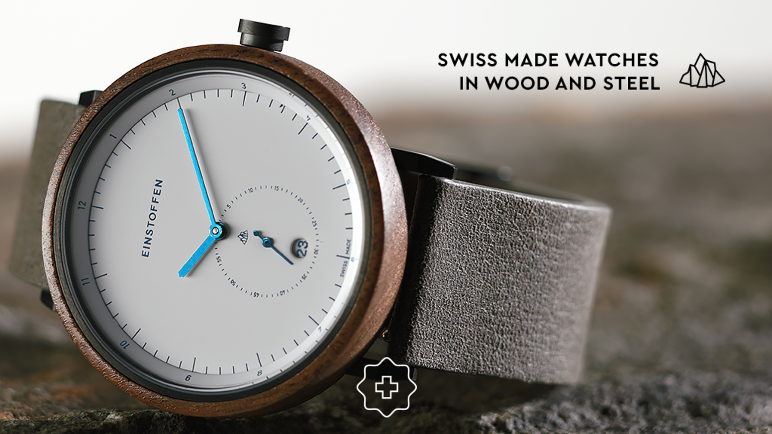 Our collection blends the raw nature of the alps with urban design and introduces the first Swiss made wooden automatic watches.
