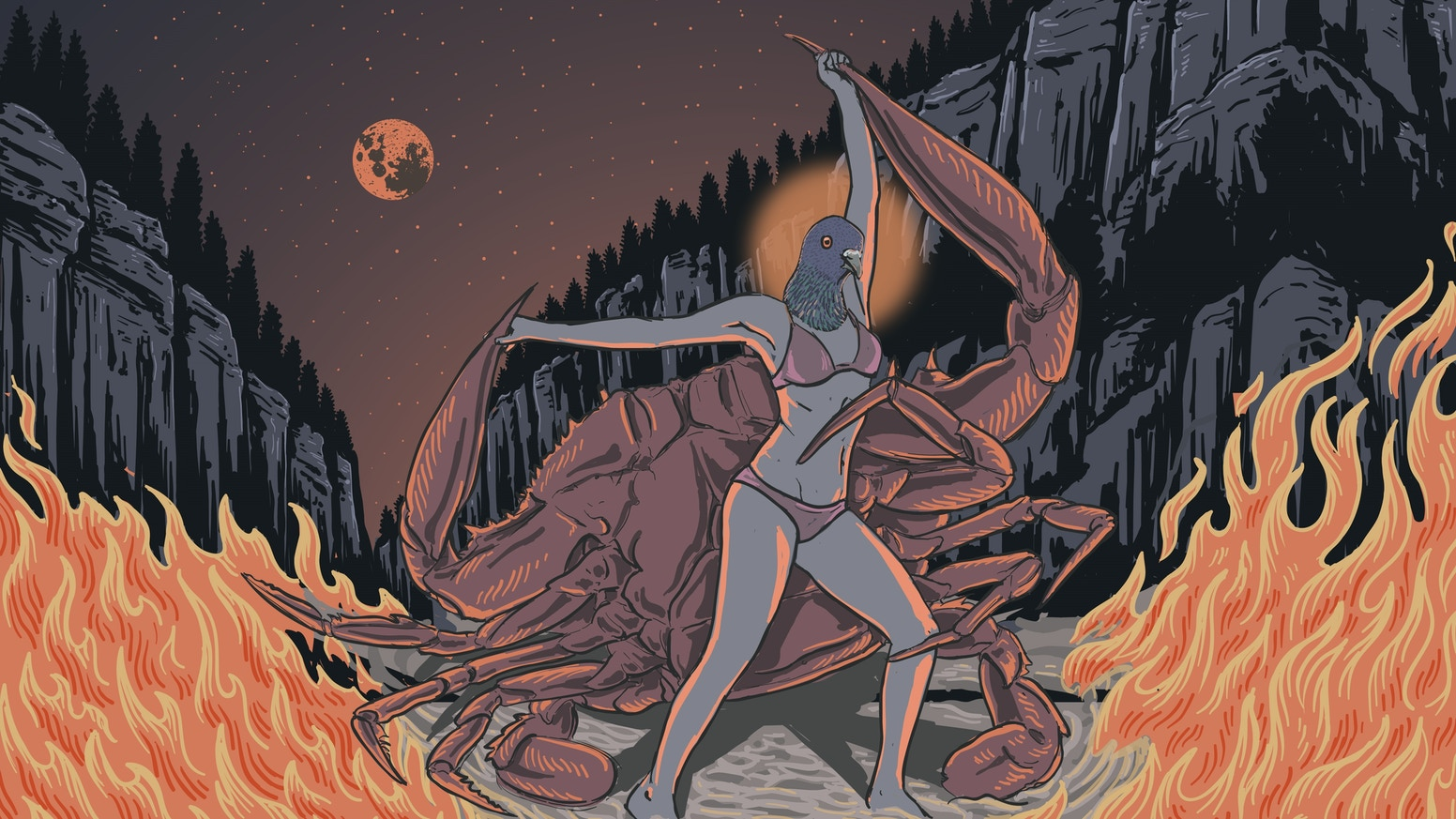 Voyage to crab mountain prog n roll album by firegarden