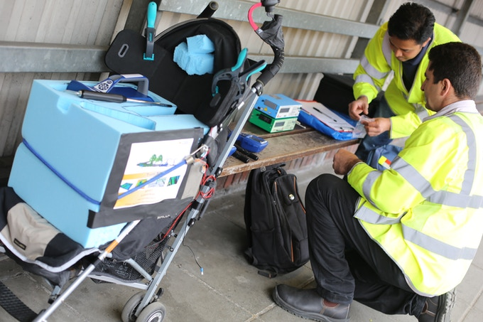 Brizi's working prototype was tested with research equipment from the University of Surrey on the streets of London