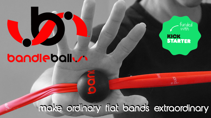 Bandleballs™ eliminate grip discomfort, transforming an ordinary flat resistance band into an extraordinary total body fitness tool.  bandleballs.com