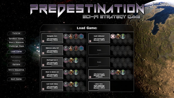 Predestination - A turn-based space 4X strategy game by
