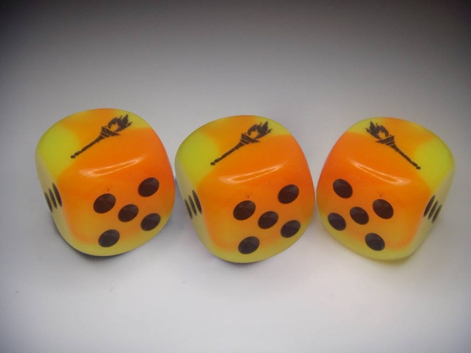 Mockup of the Tiny Dungeon 2e Dice!