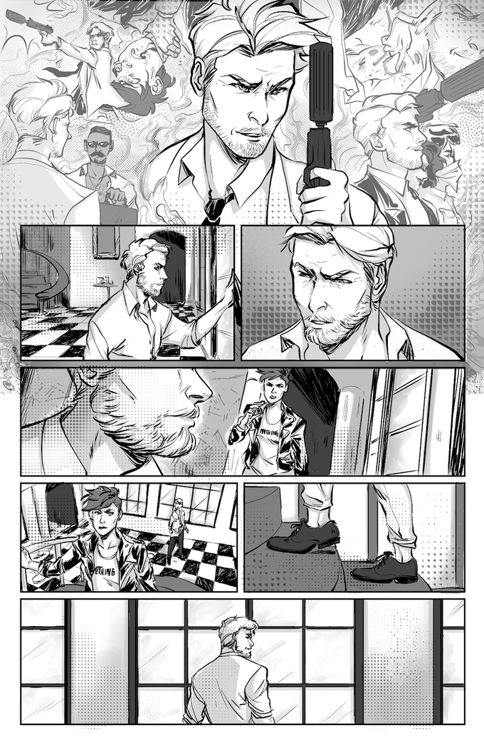 A page from Claudia Aguirre & Brian Cogan's story