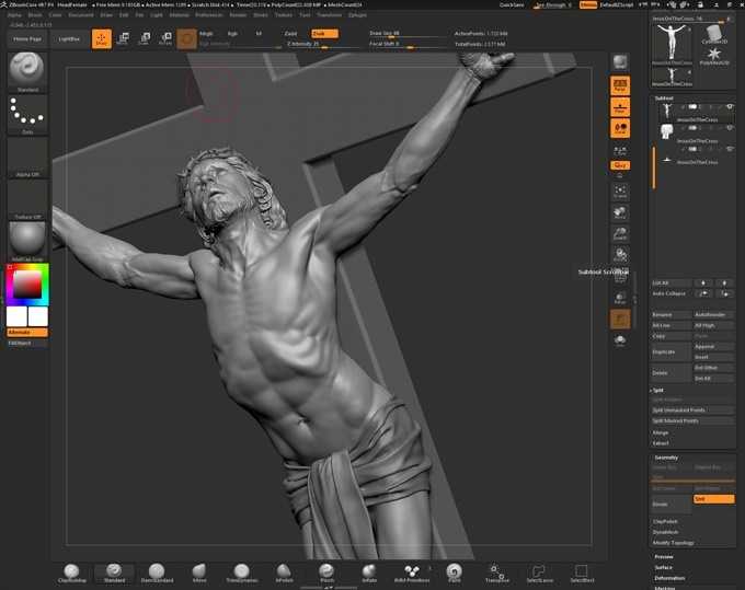 Zbrush, sculpting model