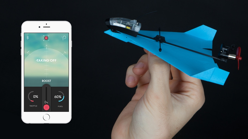 POWERUP DART - App Controlled Paper Airplane. With Tricks. project video thumbnail