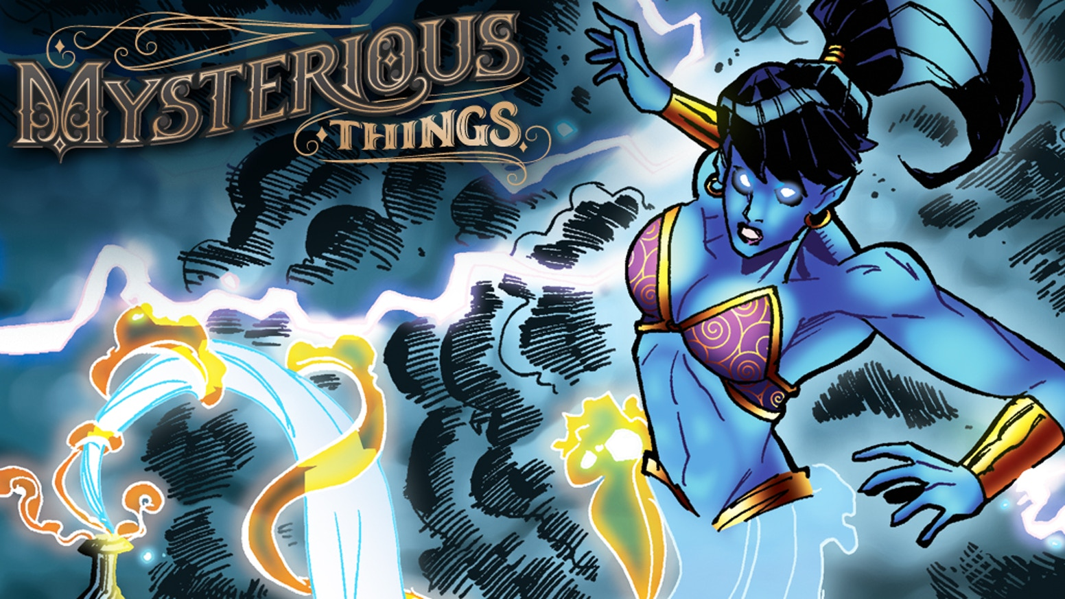 An ancient genie is accidentally released into the modern world. She must overcome defeat, and reclaim her destiny.