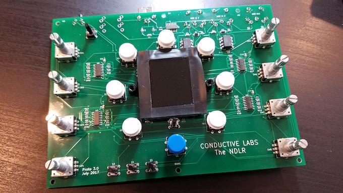 The NDLR - 1st PCB stuffed