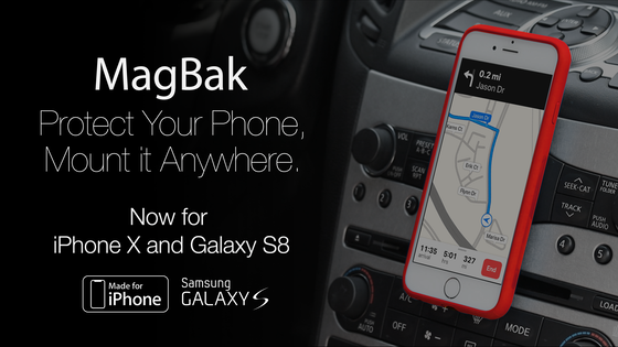 MagBak: Minimalist Case and Mounting Solution for Your Phone