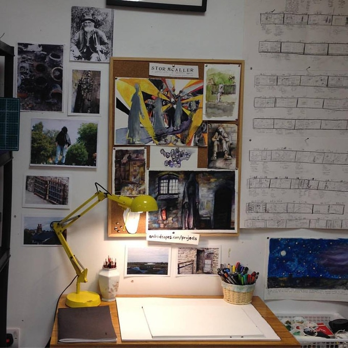 The development of ideas; storyboards and illustrations