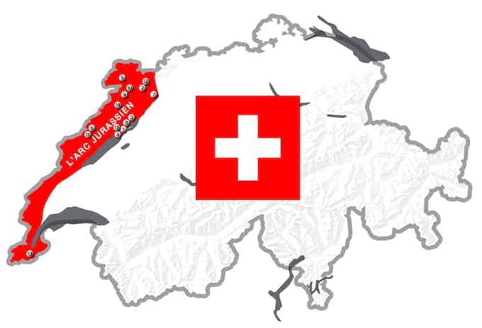 14 partenaires dans l'arc jurassien / 14 partners in Swiss Jura