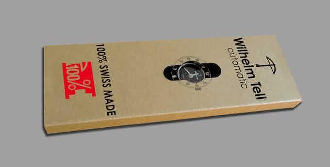 Ecrin suisse en carton recyclé / Swiss box in recycled cardboard